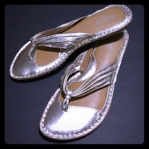 Born gold leather thong sandals